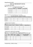 Bài tập Microsoft Excel 2010