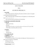 Giáo án bài: Bất phương trình một ẩn - Toán 8 - GV.Bùi Ngọc Oanh