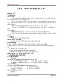 Giáo án Silic, công nghiệp silicat – Bài 30 hóa học lớp 9
