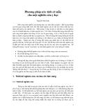 Phương pháp ước tính cỡ mẫu cho một nghiên cứu y học (Nguyễn Văn Tuấn)