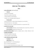 Giáo án Sinh học 11 bài 24: Ứng động