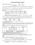 Bài tập nhiệt động hóa học 2