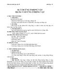 Giáo án Sinh học 11 bài 26: Cảm ứng ở động vật