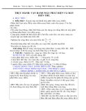 Giáo án Vật lý 9 bài 38: Thực hành - Vận hành máy phát điện và máy biến thế