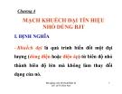 Bài giảng kỹ thuật điện tử (Lê Thị Kim Anh) - Chương 4