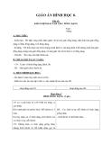 Giáo án bài:Khái niệm hai tam giác đồng dạng - Hình học 8 - GV.H.Ánh Tuyết
