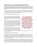 Tài liệu quản trị rủi ro trong kinh doanh ngân hàng