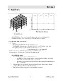 Bài tập etabs thiết kế kết cấu công trình: Ví dụ mở đầu