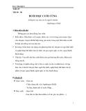 Giáo án Ngữ văn 6 bài 22: Buổi học cuối cùng