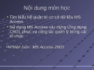 Hệ quản trị cơ sở dữ liệu MS Access - Bài 1