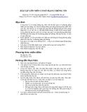 Bài tập lớn môn cơ sở mạng thông tin