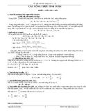 Công thức tính toán tổng hợp sinh học 12