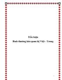 Tiểu luận:Bình thường hóa quan hệ Việt - Trung