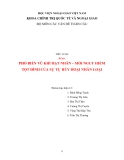 Tiểu luận: Phổ biến vũ khí hạt nhân- Mối nguy hiểm tột đỉnh của sự tự hủy hoại nhân loại (Bài tập nhóm)