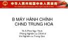 Bộ máy hành chính cộng hòa nhân dân Trung Hoa