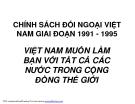 Chính sách đối ngoại Việt Nam Giai đoạn 1991-1995