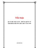 Tiểu luận:Quan hệ Việt Nam-Trung Quốc từ khi bình thường hóa đến nay 1999