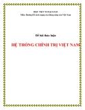Tiểu luận:Hệ thống chính trị Việt Nam
