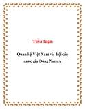 Tiểu luận: Quan hệ Việt Nam và hội các quốc gia Đông Nam Á