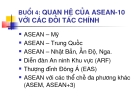 Quan hệ của ASEAN 10 với các đối tác chính