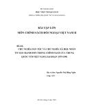 Tiểu luận:Chủ nghĩa dân tộc và chủ nghĩa xã hội: Nhân tố nào mạnh hơn trong chính sách của Trung Quốc với Việt Nam giai đoạn 1975-1991