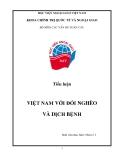 Tiểu luận:Việt Nam với đói nghèo và dịch bệnh
