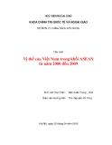 Tiểu luận:Vị thế của Việt Nam trong khối ASEAN từ năm 2000 đến 2009