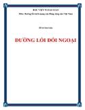 Tiểu luận:Đường lối đối ngoại của Việt Nam