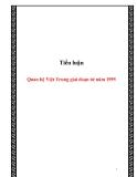 Tiểu luận:Quan hệ Việt Trung giai đoạn từ năm 1995