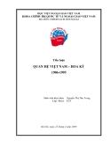 Tiểu luận:Quan hệ Việt Nam-Hoa Kỳ 1986-1995