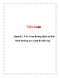 Tiểu luận: Quan hệ Việt Nam-Trung Quốc từ khi bình thường hoá quan hệ đến nay
