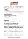 Các cách bảo vệ Hosting và server