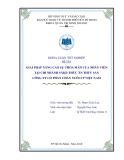 Luận văn:Giải pháp nâng cao sự thõa mãn của nhân viên tại chi nhánh sản xuất kinh doanh thức ăn thủy sản tại công ty Cổ phần chăn nuôi cổ phần Việt Nam
