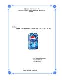 Tiểu luận:Phân tích chiến lược quảng cáo Pepsi