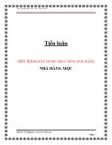 Tiểu luận:Tiến trình xây dựng thực đơn nhà hàng Mộc
