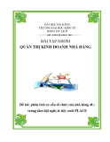 Tiểu luận:Phân tích cơ cấu tổ chức của nhà hàng 4Utrung tâm hội nghị & tiệc cưới PLACE