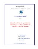 Tiểu luận:Phân tích hành vi ra quyết định chiến lược của Trần Bảo Minh tại Vinamilk giai đoạn 2007-2009