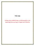 Tiểu luận: Sử dụng công cụ QFD để nâng cao chất lượng dịch vụ chở khách bằng Taxi của Công ty Cổ phần Taxi CP Hà Nội