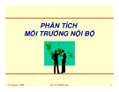 Phân tích môi trường nội bộ-TS Lê Thành Long