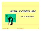 Quản lý chiến lược-TS Lê Thành Long