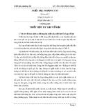 Bài giảng: Triết học phương Tây