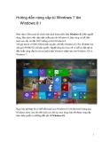 Hướng dẫn nâng cấp từ Windows 7 lên Windows 8