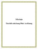 Tiểu luận: Tìm hiểu nhà hàng Phúc An Khang