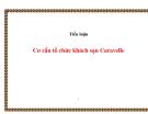 Tiểu luận:  Cơ cấu tổ chức khách sạn Caravelle