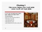 Chương 5- Tầm quan trọng của thực đơn cách thiết kế thực đơn