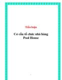 Tiểu luận: Cơ cấu tổ chức nhà hàng Pool House