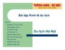 Thuyết trình: Du lịch Hà Nội