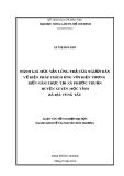 Luận văn: Đánh Giá Mức Sẵn Lòng Trả Của Người Dân Về Biện Pháp Thích ứng Với Hiện Tượng Biển Xâm Thực Tại Xã Phước Thuận Huyện Xuyên Mộc Tỉnh Bà Rịa Vũng Tàu