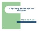 Tạo động lực làm việc cho nhân viên - PGS. TS. Trần Văn Bình