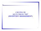 Chương 3- Quản trị dự trữ